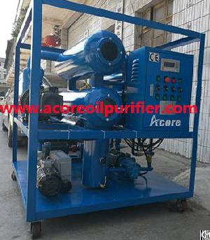 mobile vacuum transformer oil filtering cleaning equipment