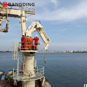 Bangding Hydraulic Telescopic Kunckle Boom Marine Deck Cranes For Ship And Port