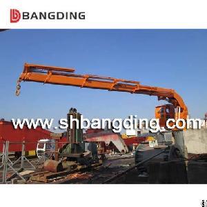 bangding knuckle boom telescopic crane ship deck hydraulic unloading loading