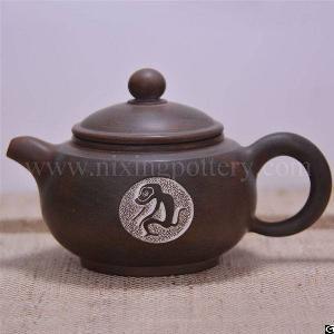 zodiac teapots monkey tea pot nixing ceramic handmade pots