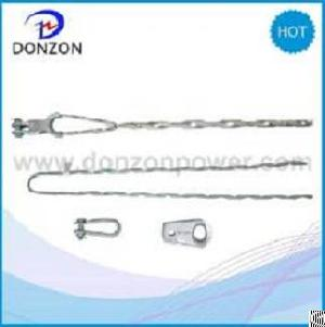 helical dead clamps short span adss cable