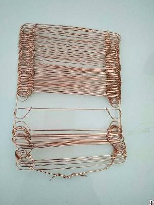 copper coated wire loop welded ties