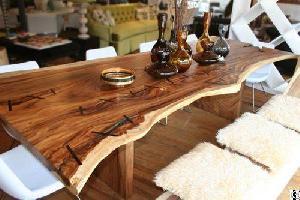 suar furniture slab dining table