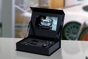 promotional lcd video display packaging box 7 hd screen light sensor funtek