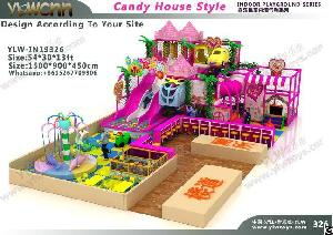 Kids Maze Sweet Candy Theme Paradise Indoor Playground Structure Park Ylw-in19326