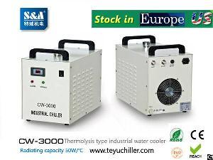 water cooled chiller cw 3000 ac220v 50hz co2 laser cnc spindle