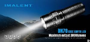 imalent dn70 versatile usb rechargeable led tactical flashlight oled display