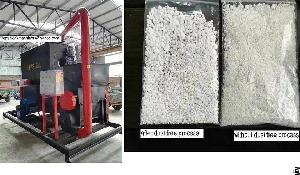 dust eps panels recycling machine particles feedings