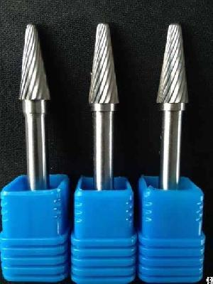 Cemented Carbide Rotary Burs With Single Cut