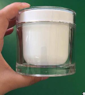 empty 100ml 200ml clear plastic cosmetic body scrub hair care cream jar