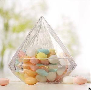 empty diamond shaped sweet food andy chocolate plastic packaging containers