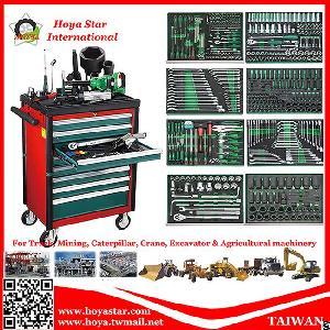 520pcs socket bit wrench spanner plier screwdriver ratchet tool trolley