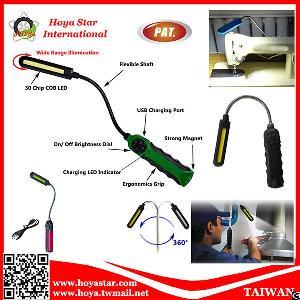 ultra slim flexible magnetic led cob light portable handy tool magnet