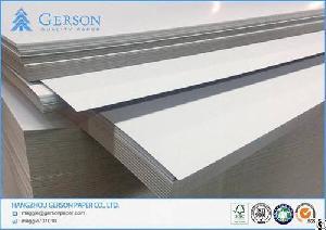 250gsm coated duplex board grey