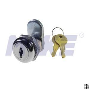 zinc alloy wafer key cam lock shiny chrome nickel plated