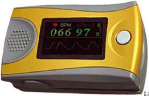 fingertip pulse oximeter oxygen saturation monitor