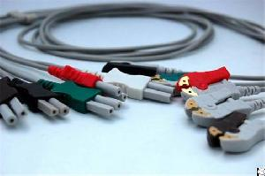 Ll Style Ecg Cable, One Piece Ecg Cable, Snap Electrode