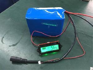 rechargeable li ion perma battery pack lcd display showing remaining power