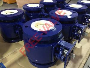 pneumatic actuator flange zirconium ceramic ball valve v port lined control