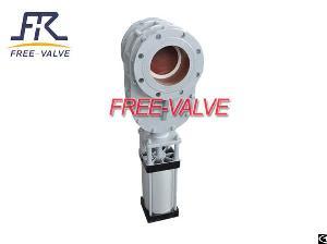 pneumatic parallel sliding ceramic gate valve anti wear disc
