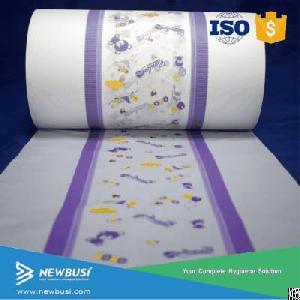 raw baby diaper sheet non woven breathable pe lamination film lamina