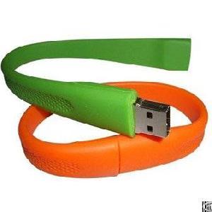 silicone usb wrist band molding