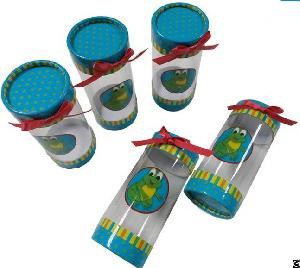 pet pvc pp soft clear plastic tube packaging paper lid
