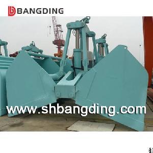 electric hydraulic clamshell grab bucket cargo loading unloading
