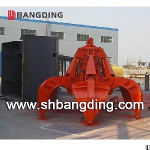 Electric Hydraulic Orange Peel Grab Bucket For Handling Stone