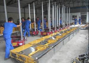 electric power wall plastering machine manufacture