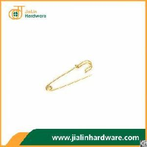 Can Pass All Eu Testing Premium Quality Gold Plated Brass Safety Pin 70mm 1.9mm Size Brooch Jewelry