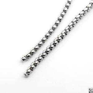 stainless steel rolo cable wheat chain link necklace 16 36