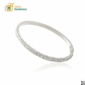 wholesale women stainless steel fancy bangle bracelet zircons decoration