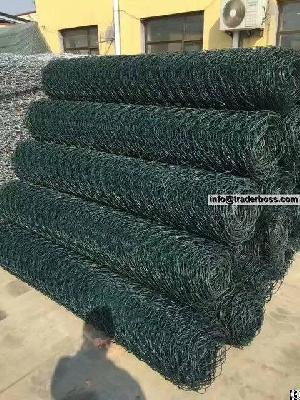 flexible plastic coated chain link fencing hillside protection