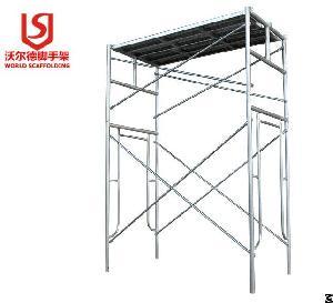 construction pre galvanized ladder frame scaffolding