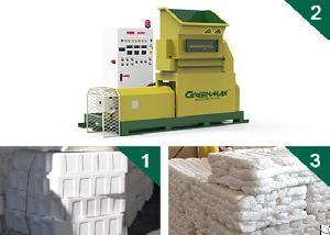 greenmax mars c100 styrofoam melting machine