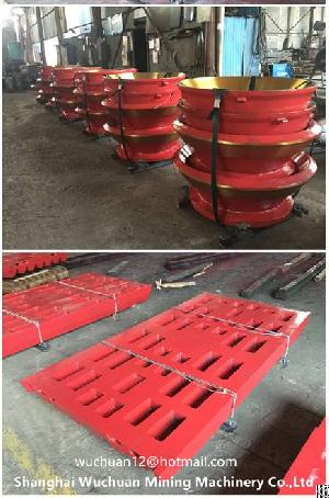 crusher wear jaw plates mantle bowl liner