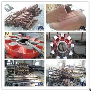 wear resistant machinery spare gear shaft liner crusher grinder e