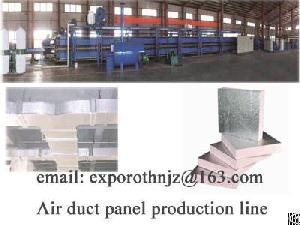 Air Duct Panel Production Line For Air Conditioner