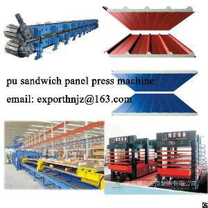 Press Machine And Double Belt Coneyor For Pu Sandwich Panel