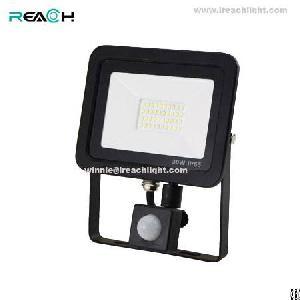 30w led flood light pir sensor blacking body driverless slim