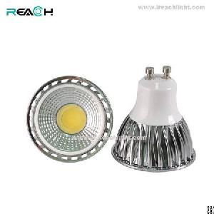 5w gu10 led spotlight ac85 265v dimmable cob 90degree alu body replace 40w halogen light