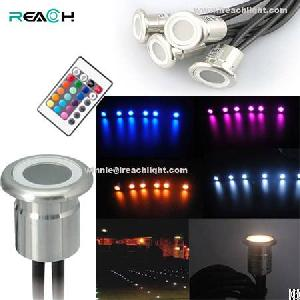 6pcs rgb led inground light recessed mounted stainless steel body waterproof driver