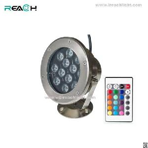 led underwater light 12w power 960lm 25degree rgb ip68 waterproof 150mm