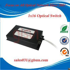 glsun 1x16 multi channel fiber optic switch
