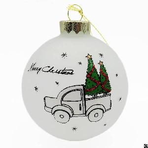 christmas tree decoration frosted glass ornament ball wholesale
