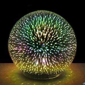 firework light battery powered christmas decorative 3d led glass sphere ball gazing