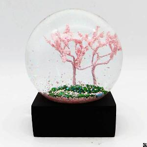 personalized glass water globe ball tourist souvenir