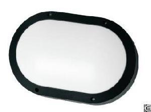 Oval Shape Led Wall Light Aluminium Housing Black Colour Epistar Chip 20w 1600lm