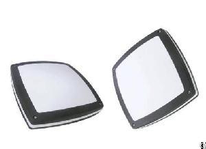 square bulkhead light housing die cast aluminum pc diffuse ip65 ik10 impact resistance